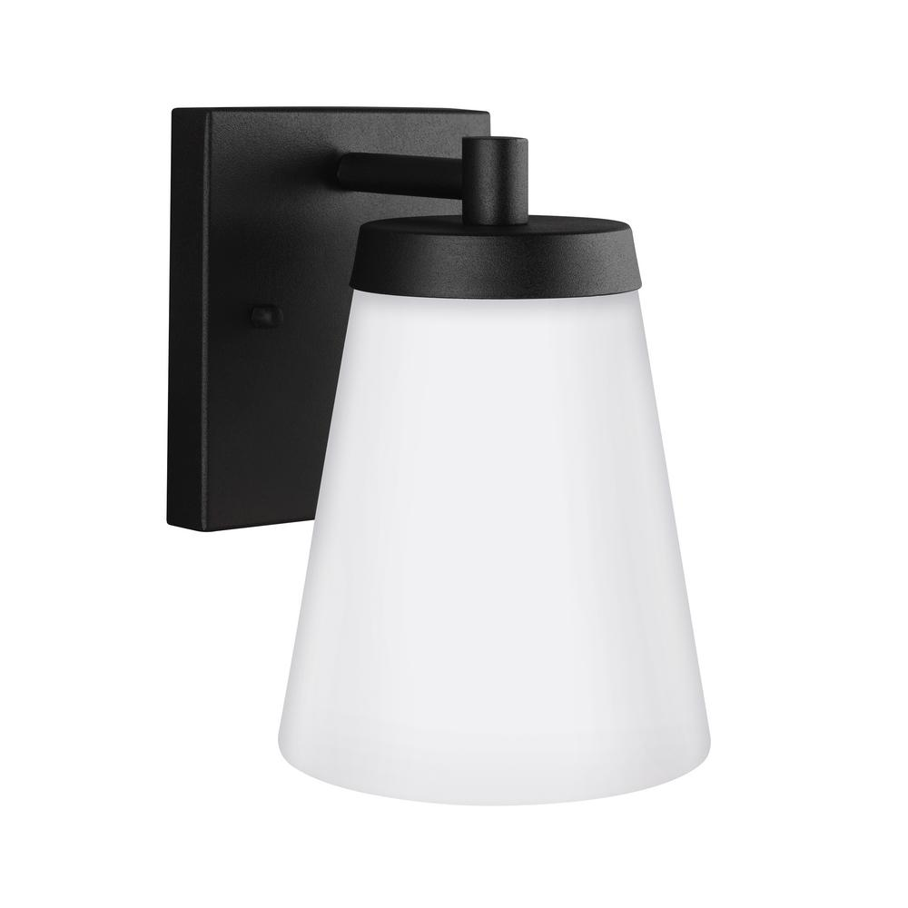 Renville 1-Light Black Outdoor Wall Mount Lantern