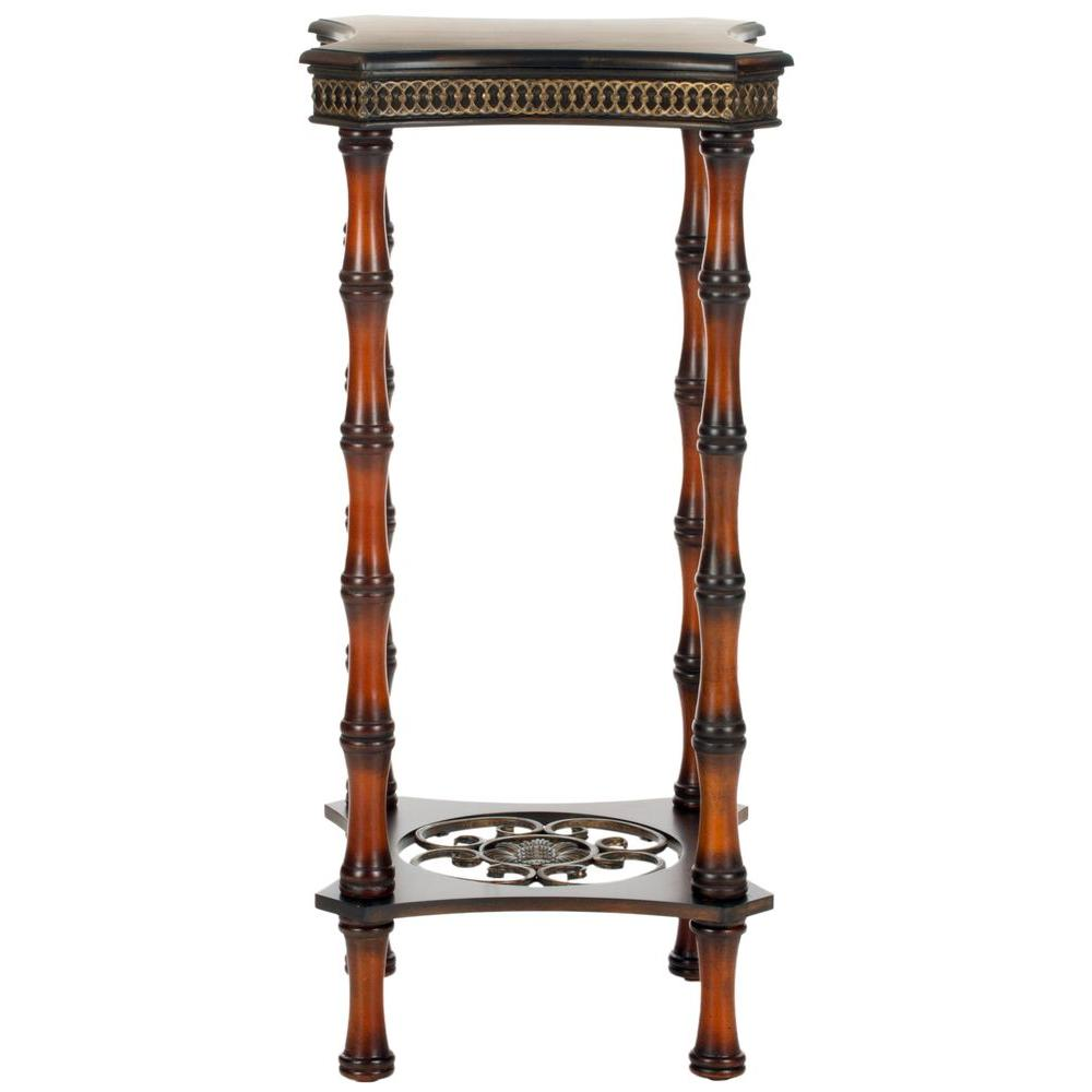 Blanch Dark Brown Side Table