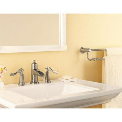 Ashfield 8 in. Widespread 2-Handle Waterfall Bathroom Faucet in Brushed Nickel