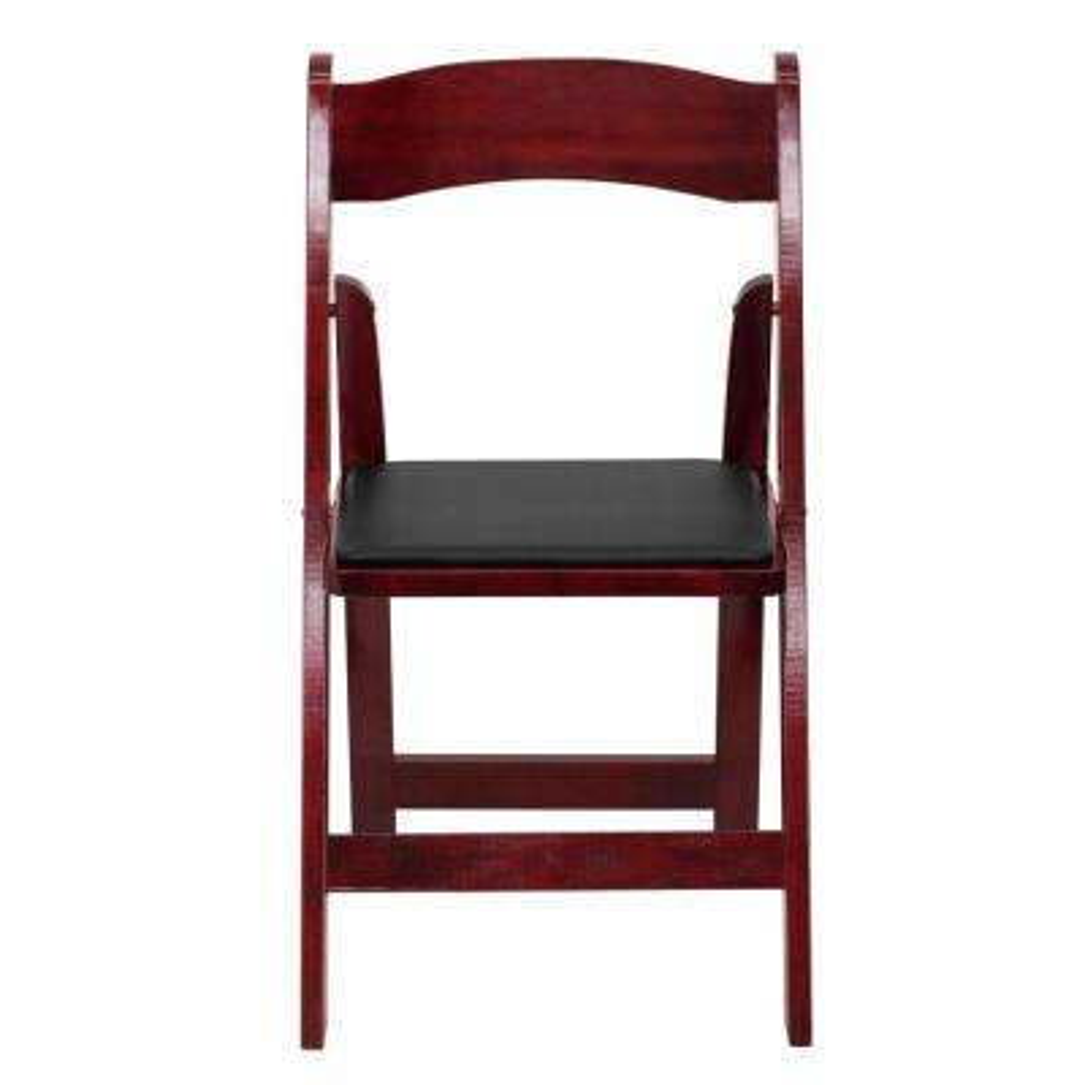 Mahogany Wood Folding Chair (2-Pack)