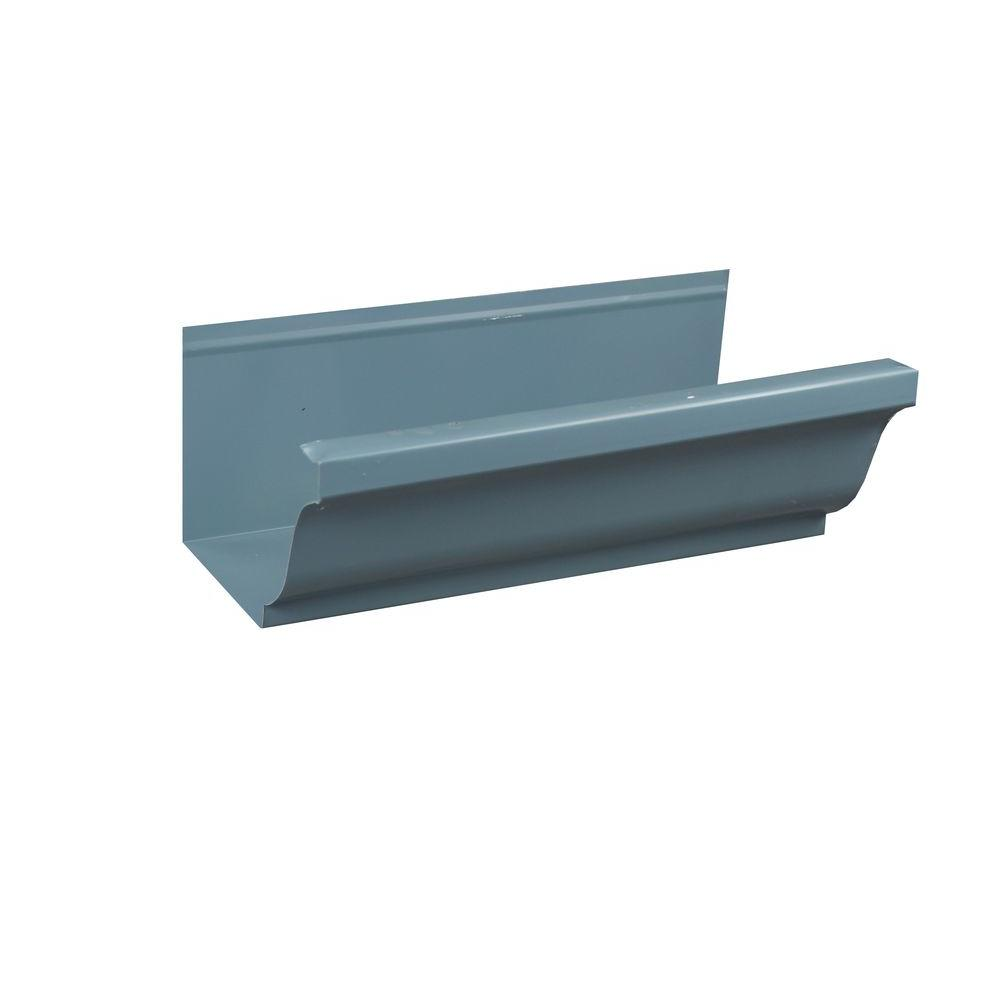 Spectra Metals 5 in. x 8 ft. K-Style Traditional Blue Aluminum ...