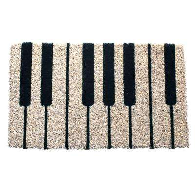 Piano 18 in. x 30 in. Hand Woven Coconut Fiber Door Mat