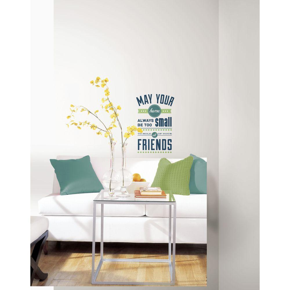 RoomMates 5 in. x 11.5 in. Room for Friends Quote Peel and Stick Wall Decals