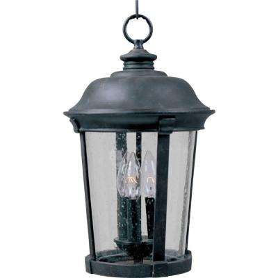 Dover Die Cast 3-Light Bronze Outdoor Hanging Lantern