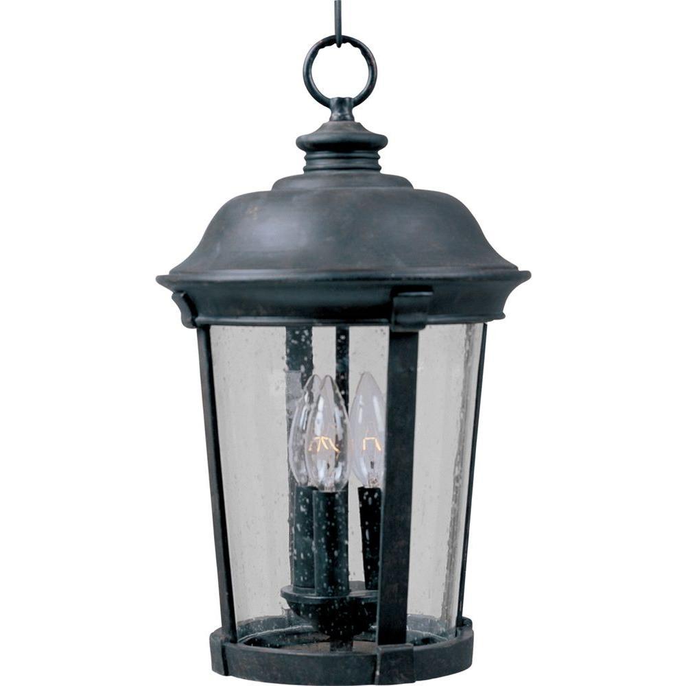 Dover Die Cast 3-Light Bronze Outdoor Hanging Lantern