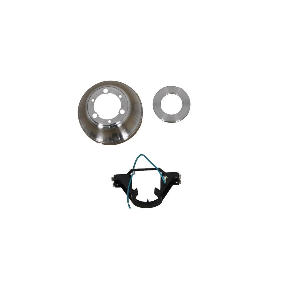Glendale 52 in. Brushed Nickel Ceiling Fan Replacement Mounting Bracket and Canopy Set