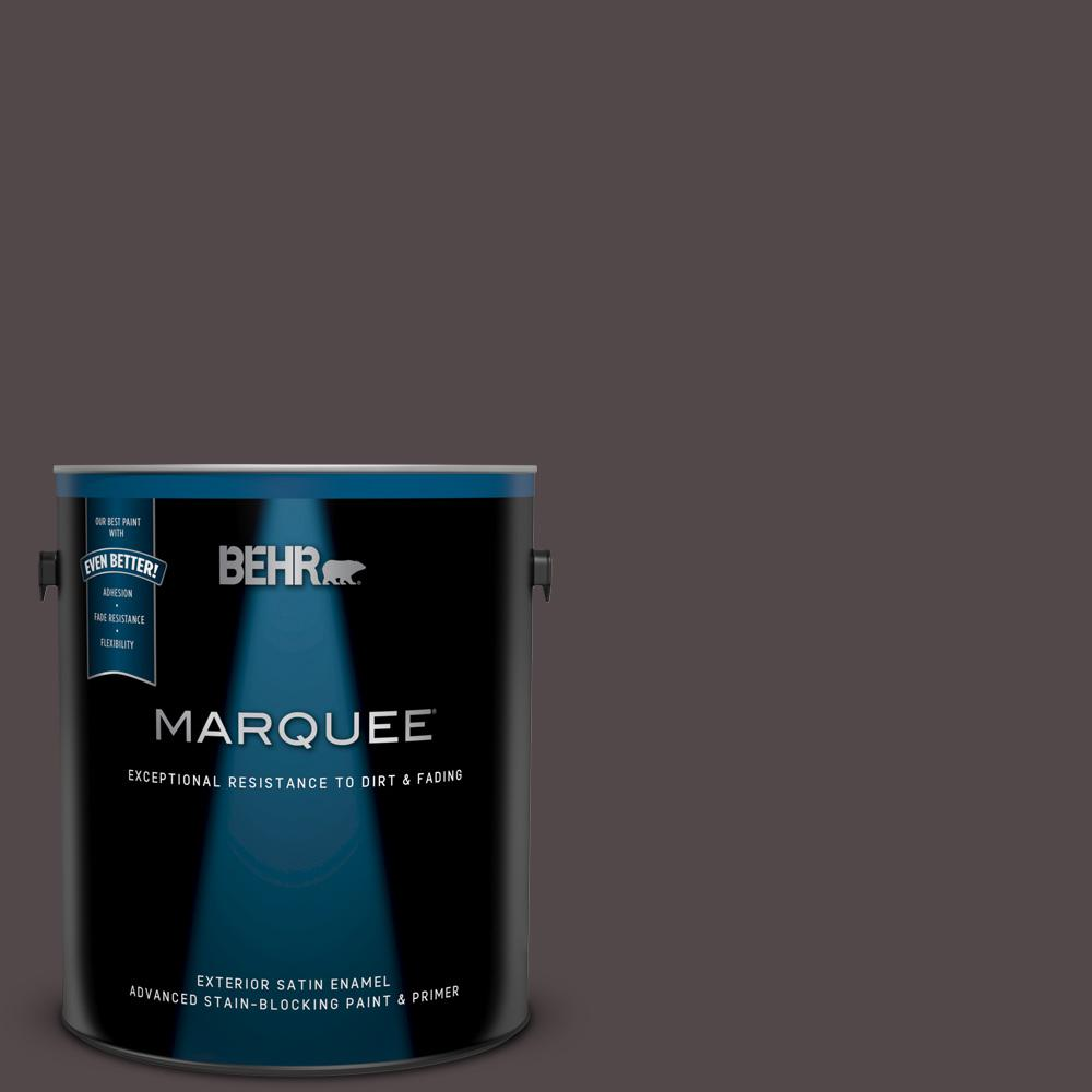 Behr Marquee 1 Gal Mq1 34 Instant Classic Satin Enamel Exterior Paint And Primer In One 945301 The Home Depot