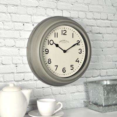 Industrial Gray Wall Clock