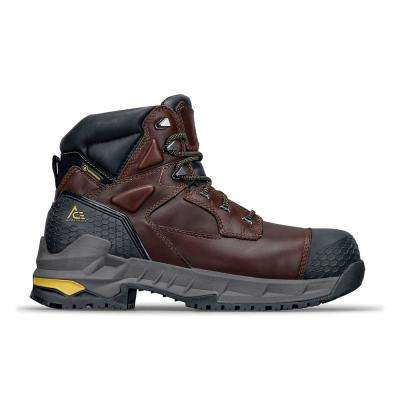 Firebrand CT Men's Size 7M Black Leather Slip-Resistant Composite Toe Work Boot