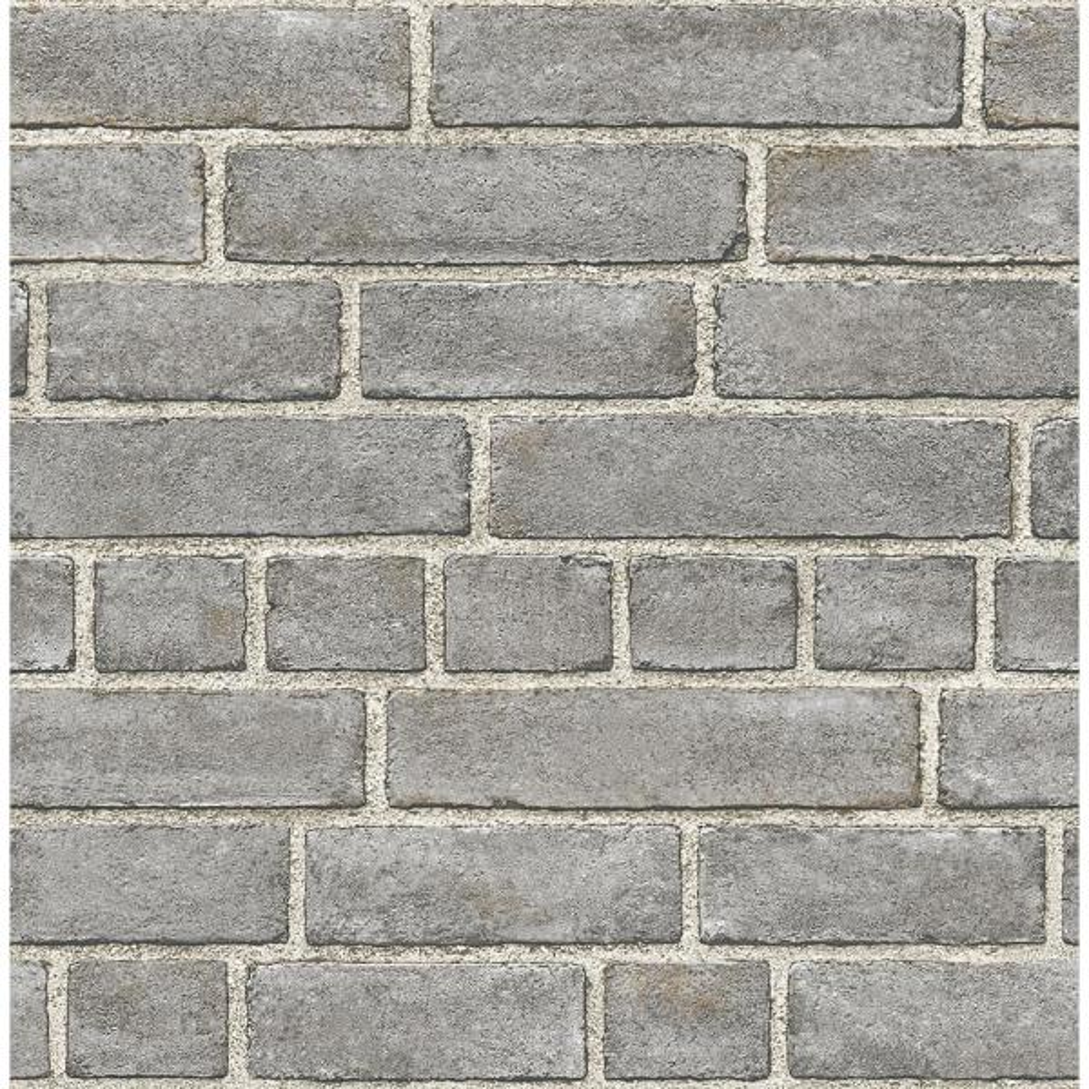 A-Street 56.4 sq. ft. Façade Grey Brick Wallpaper 2540-24050