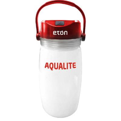 AquaLite Solar Powered Lantern and Water Bottle with Emergency Kit Essentials