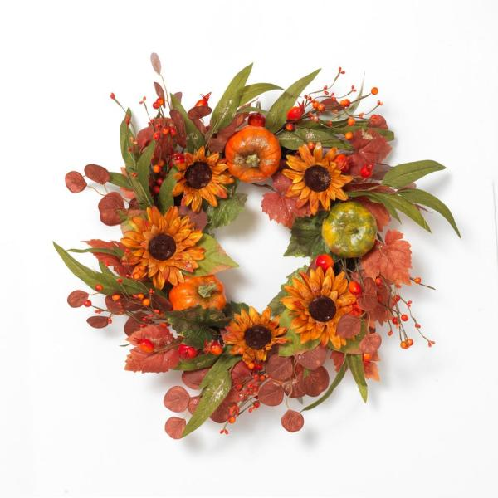 24 in. D Harvest Wreath