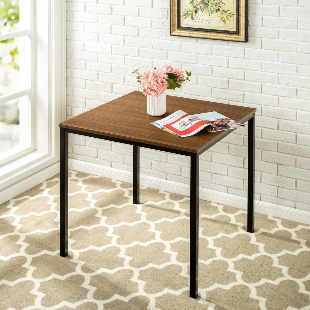 Zinus umer modern studio collection soho square table brown