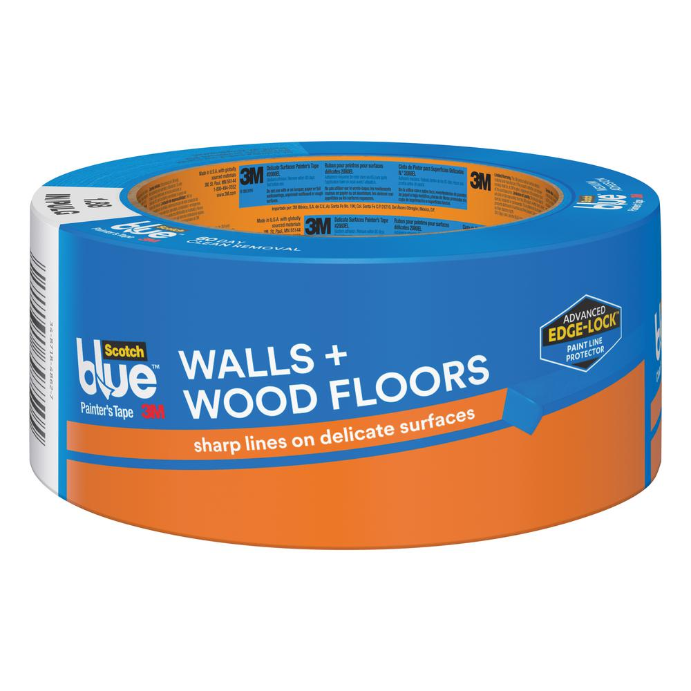 1.88 in. x 60 yds. Walls and Wood Floors Painter's Tape