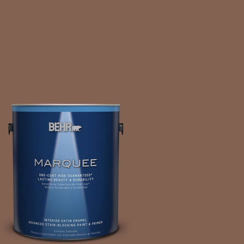1 gal. #HDC-SP14-6 Tilled Earth Satin Enamel Interior Paint