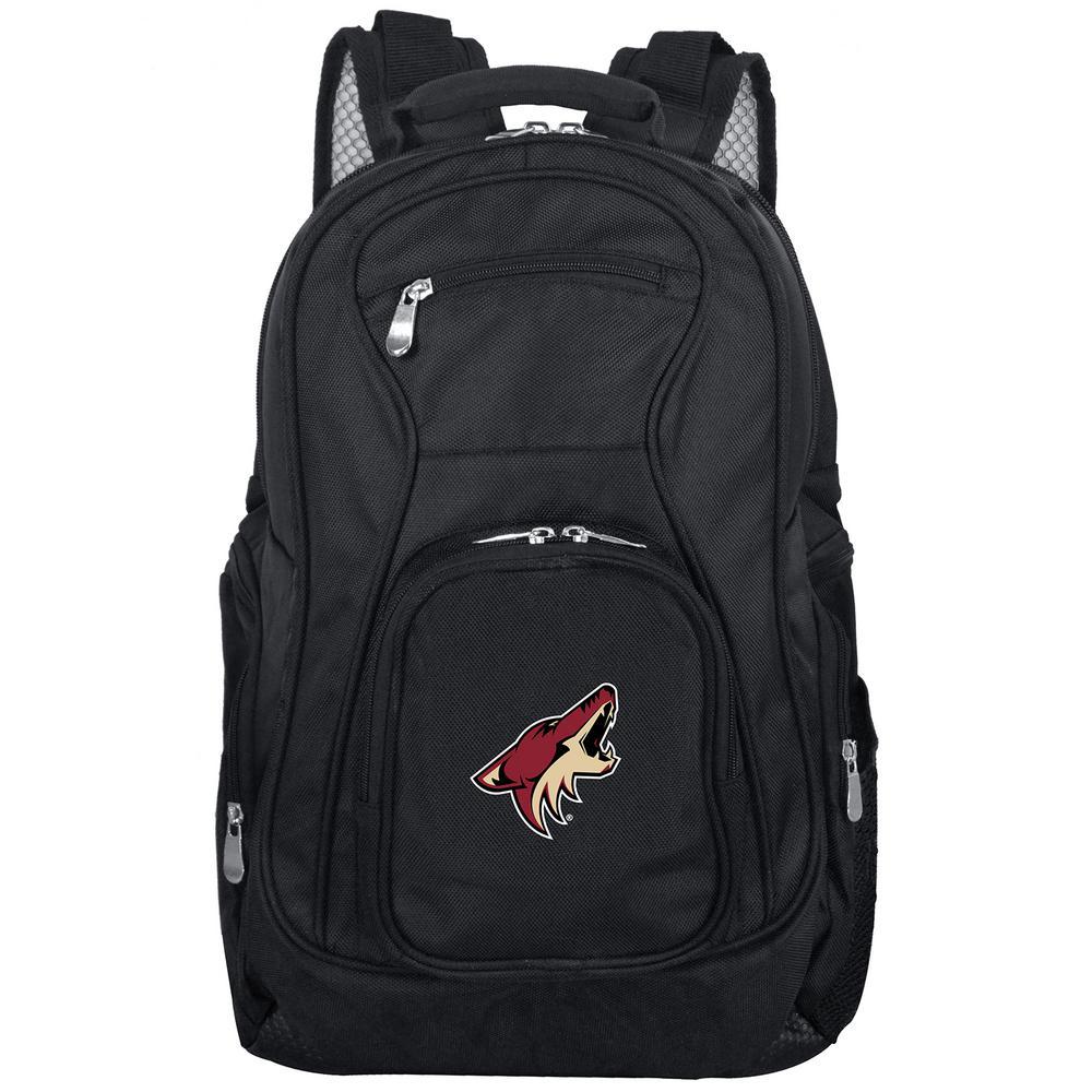 NHL Phoenix Coyotes Black Backpack Laptop