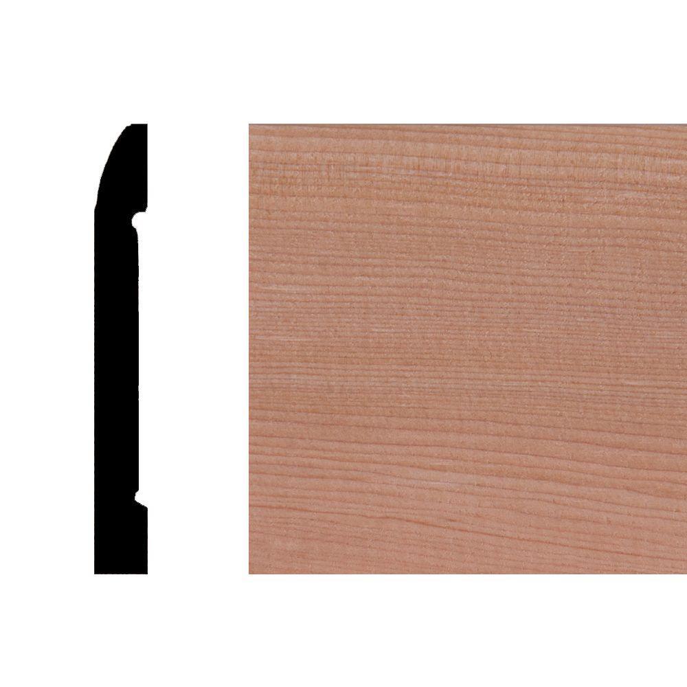 Builder's Choice LWM723 7/16 in. x 3-1/4 in. Hemlock Wood Base Moulding