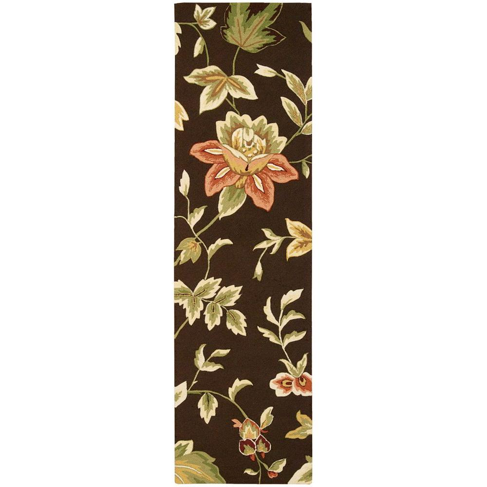 Nourison French Country Chocolate 2 ft. 3in. x 8 ft. Rug Runner