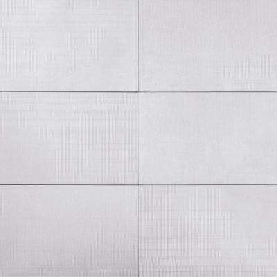 lungo White 12 in. x 24 in. x 9mm Matte Porcelain Floor and Wall Tile (8 pieces / 15.49 sq. ft. / box)