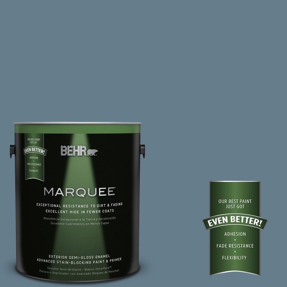 BEHR MARQUEE 1-gal. #ECC-31-1 Windy Seas Semi-Gloss Enamel Exterior Paint