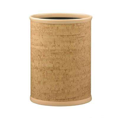 Natural Cork 13 qt. Oval Waste Basket