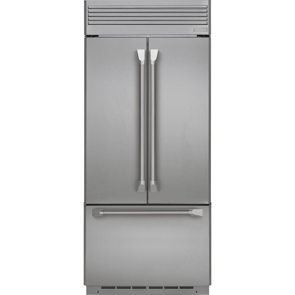 Monogram 36 In W 20 6 Cu Ft French Door Refrigerator In