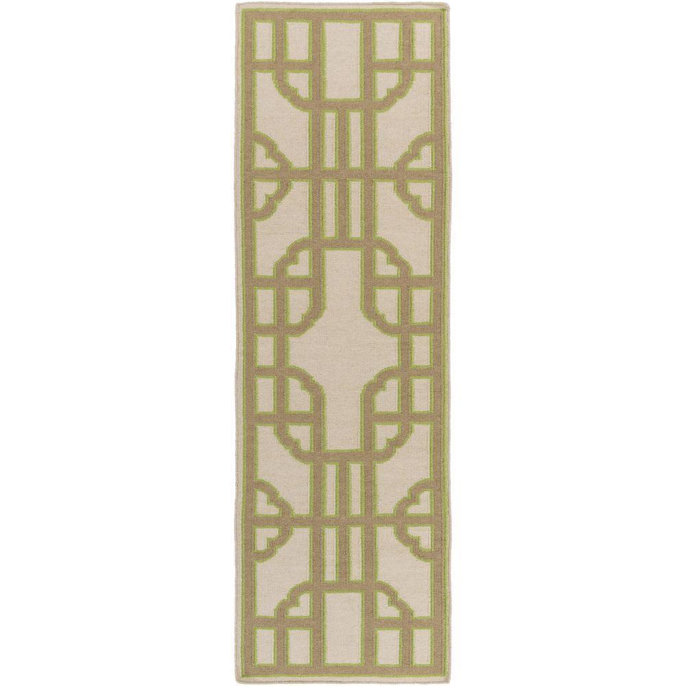 Lavish Home Taupe 2 Ft X 5 Ft Cotton Reversible Extra