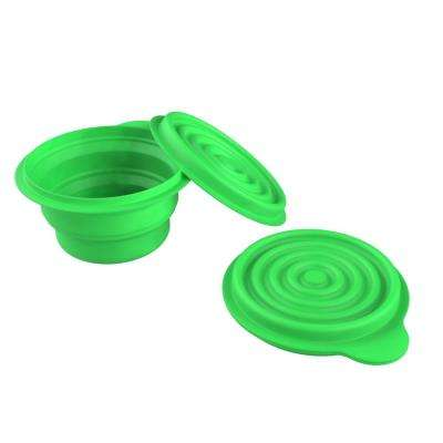 Collapsible Bowls with Lids in Green (2-Pack)