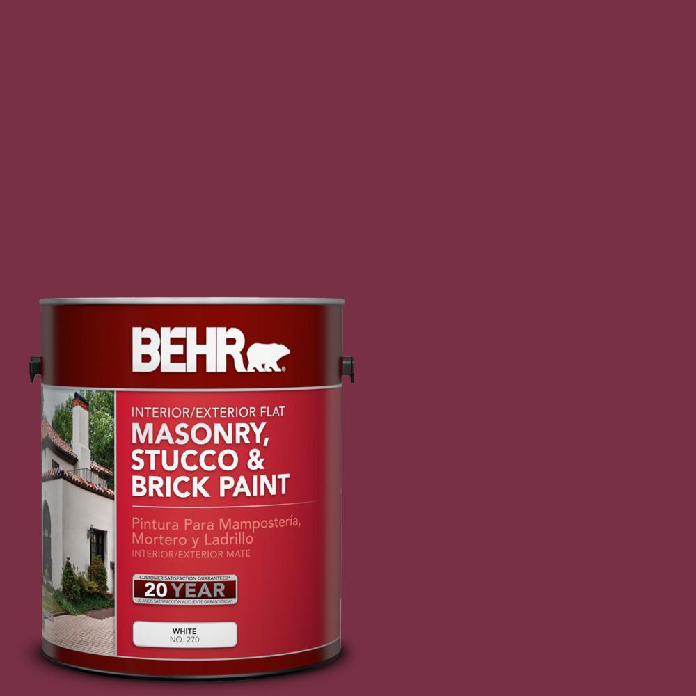 Ppu1 13 Ed Wine Flat Interior Exterior Masonry Stucco And Brick Paint