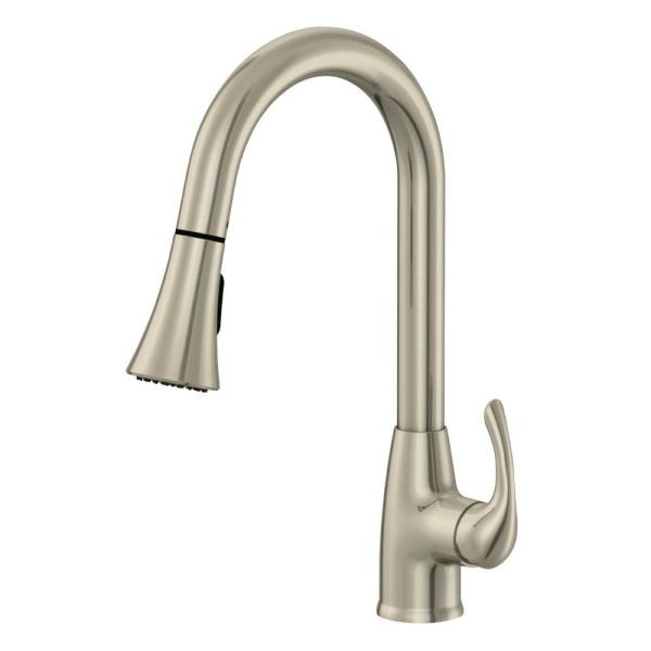 Sterling Single-Handle Pull-Down Sprayer Kitchen Faucet in Brushed Nickel