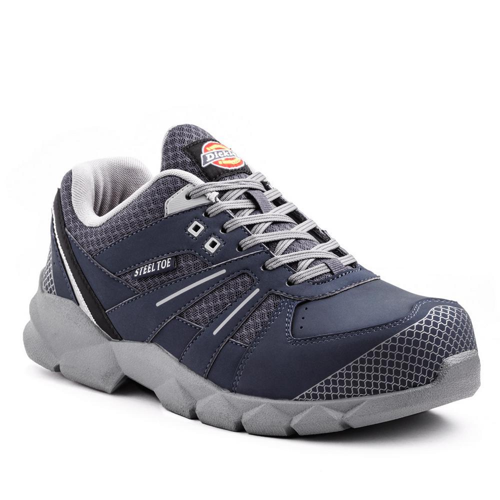 Dickies Rook Men Size 11 Medium Blue Steel Toe Work Shoe