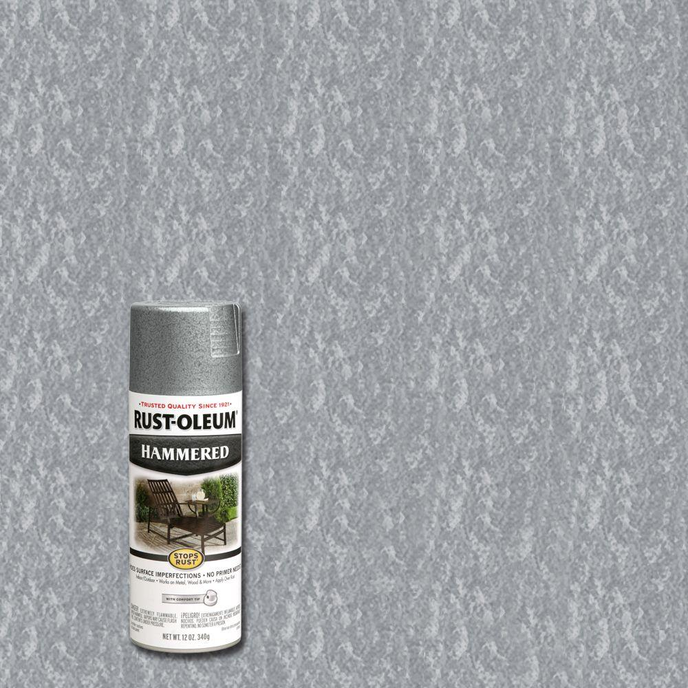 Rust Oleum Stops Rust 12 Oz Hammered Spray Paint 7213830 The Home Depot