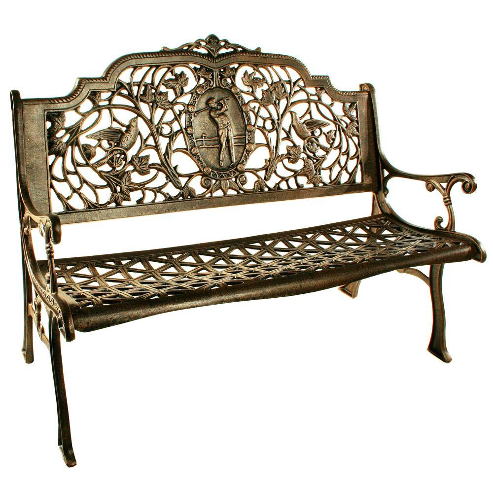 Oakland Living Golfer Patio Bench-6004-AB - The Home Depot on Ab Outdoor Living id=72321