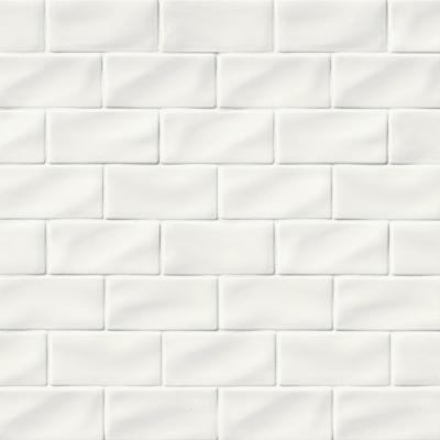 Whisper Handcrafted 3 in. x 6 in. Glossy Ceramic White Handmade Subway Tile (1 sq. ft./case)