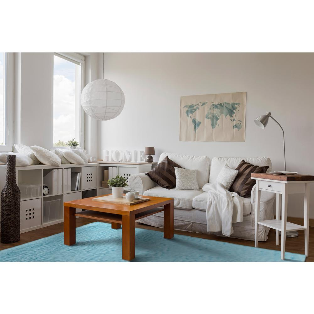 linon home decor faux sheepskin blue 3 ft x 5 ft indoor area rug rh homedepot com