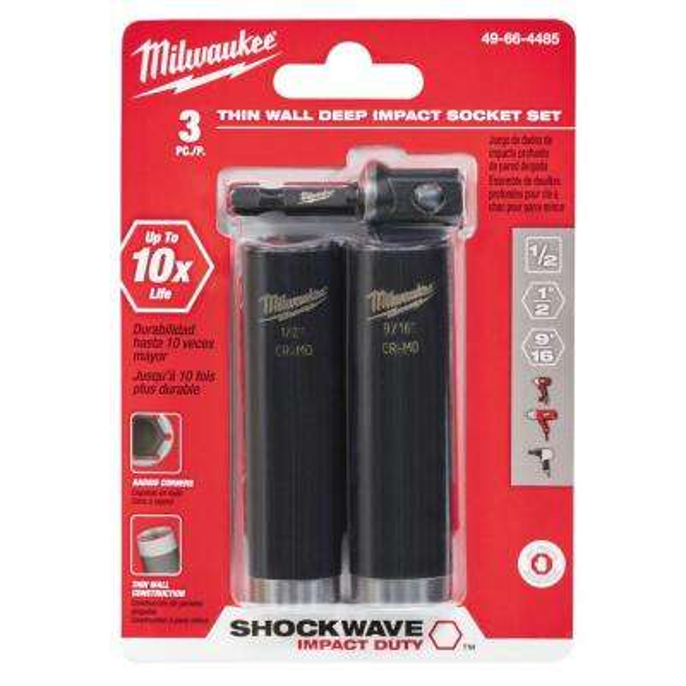 Shockwave 1/2 in. Impact Duty Socket Set (3-Pack)