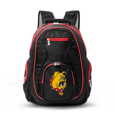NCAA Ferris State Bulldogs 19 in. Black Trim Color Laptop Backpack