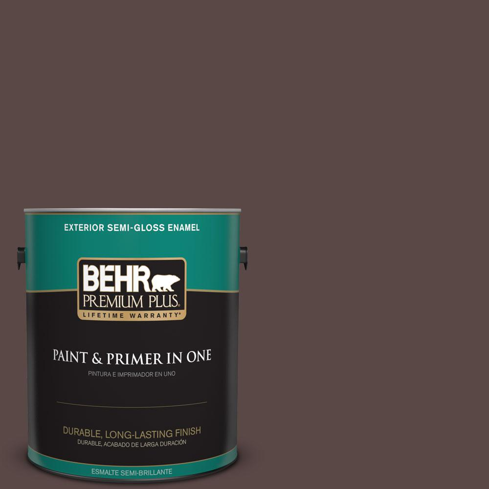 1-gal. #750B-7 Thick Chocolate Semi-Gloss Enamel Exterior Paint