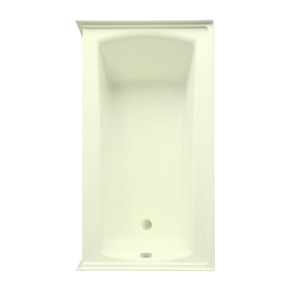 Aquatic Cooper 32 5 ft. Left Drain Acrylic Whirlpool Bath Tub with Heater in Biscuit