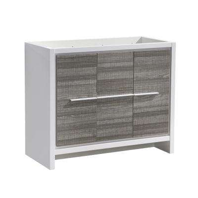 Allier Rio 40 in. Modern Bathroom Vanity Cabinet in Ash Gray