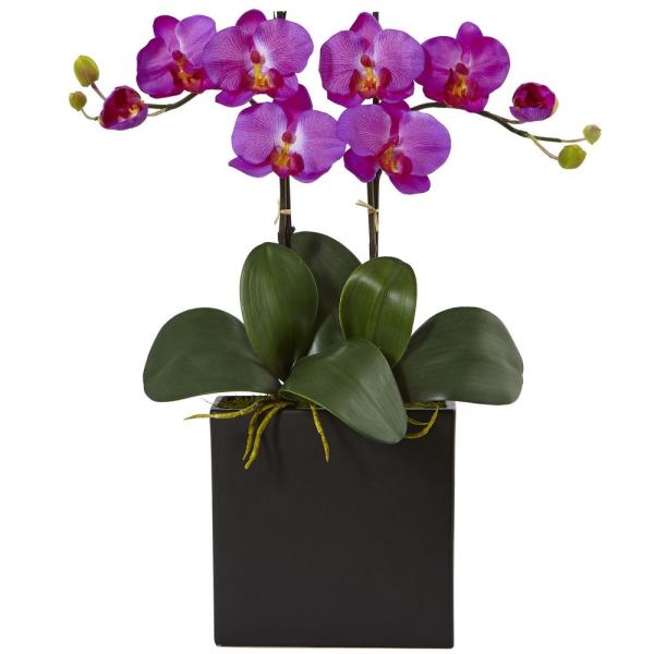 Nearly Natural Double Mini Phalaenopsis Silk Orchid 1483-OR