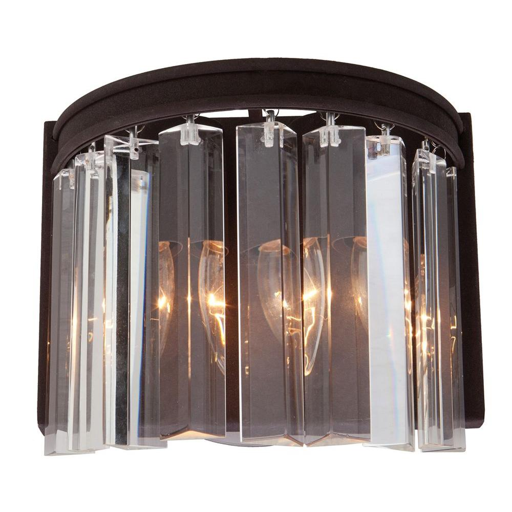 ARTCRAFT El Dorado 2-Light Java Brown Sconce Classic and timeless the El Dorado collection of crystal chandeliers is rich inside and out. Available in Java Brown or Chrome plated finishes. Wall Sconce
