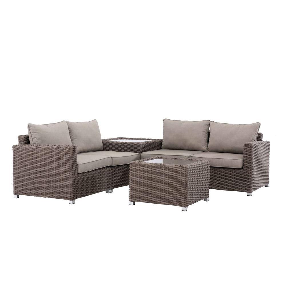 Sunjoy California 4-Piece Patio Seating Set Deals