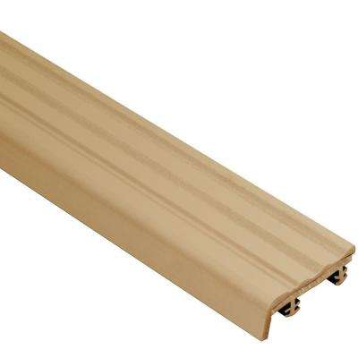 Trep-S Light Beige 1-1/32 in. x 8 ft. 2-1/2 in. Thermoplastic Rubber Replacement Insert