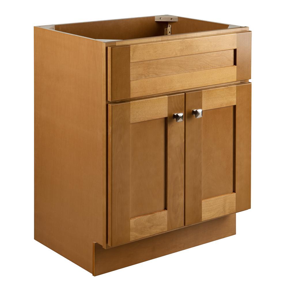 Brookings Plywood RTA 24 in. W x 18 in. D 2-Door Shaker Style Bath Vanity Cabinet Only in Birch