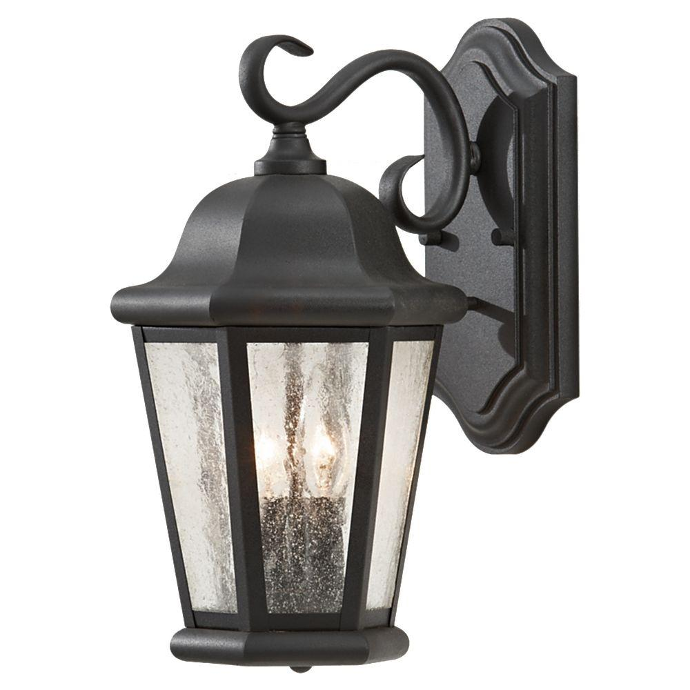 Martinsville 2-Light Black Outdoor Wall Fixture