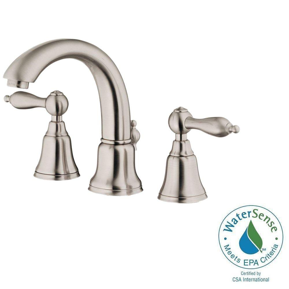 Minispread 2 Handle Mid Arc Bathroom Faucet in Brushed Nickel. Minispread Bathroom Sink Faucets   Bathroom Sink Faucets   The