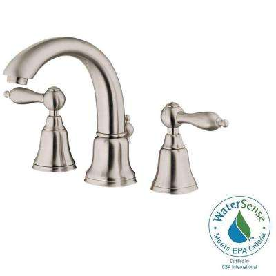 Fairmont 4 in. Minispread 2-Handle Mid-Arc Bathroom Faucet in Brushed Nickel