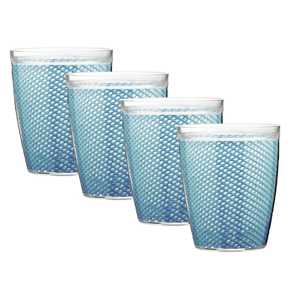 Fishnet 14 oz. Niagara Blue Insulated Drinkware (Set of 4)