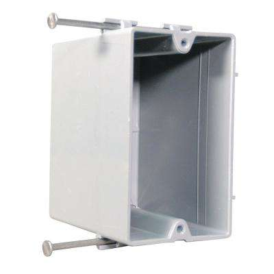 Slater New Work Plastic 1-Gang Captive Mounting Nail Quick Entry Deep Switch and Outlet Box